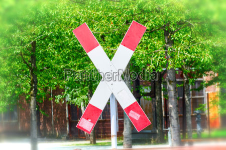 st andrews cross on a railroad