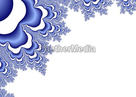 blue decorative fractal ornaments