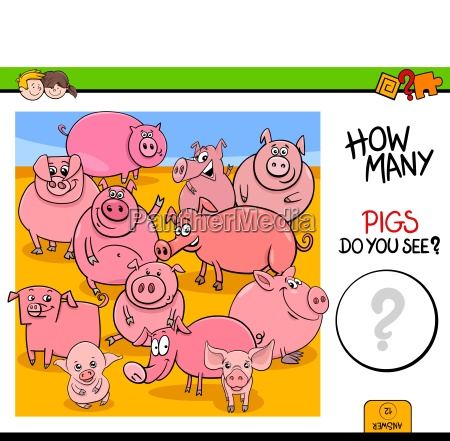 counting pigs animals educational game