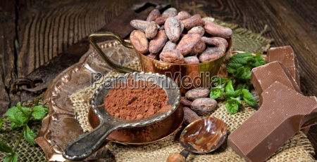 chocolate cocoa and cocoa beans
