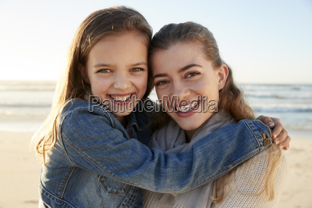 portrait of loving mother and daughter