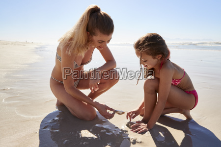 mother and daughter on summer vacation