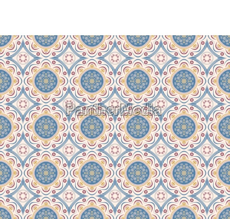 decorative seamless tiles with abstract decor