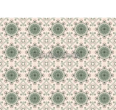 decorative seamless tiles in green tones