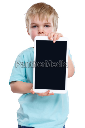 child little boy with tablet computer