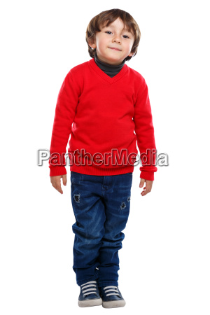 child little boy full body portrait