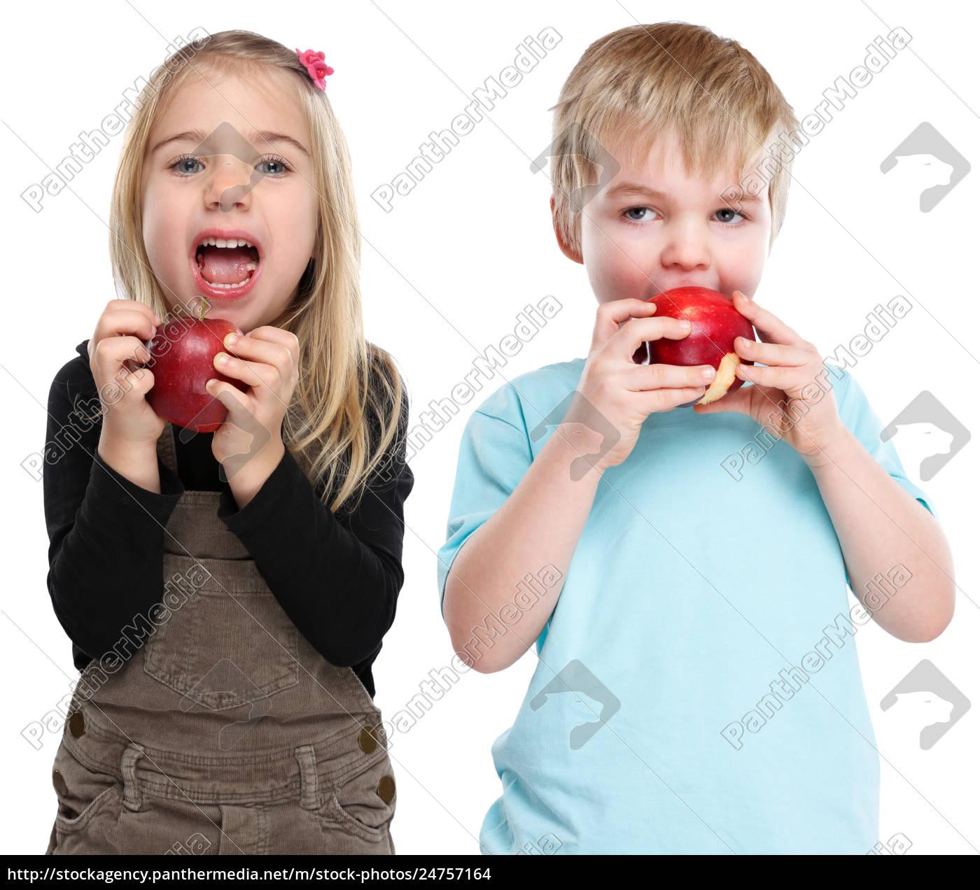 kinder, apfel, obst, früchte, essen, herbst - 24757164
