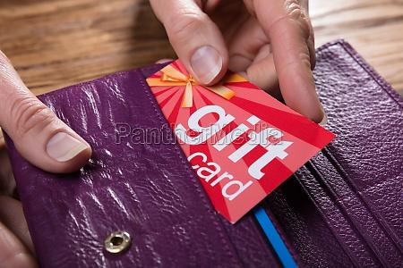 hand person geschenk karte steckkarte gabe