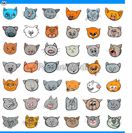 cartoon cats and kittens icons large