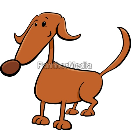 cute brown dog cartoon comic character