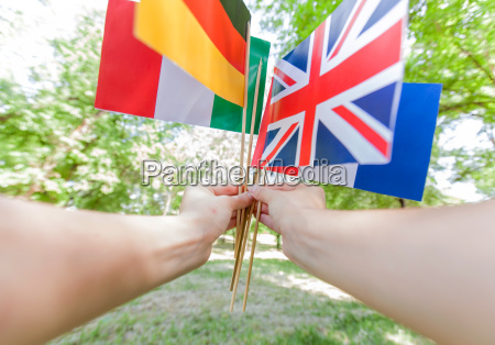 learning languages international flags