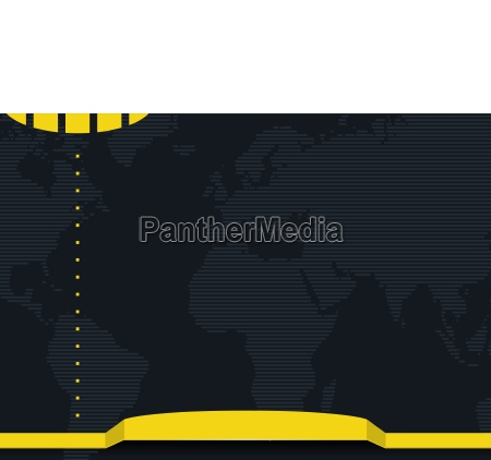 graphic background with striped world map