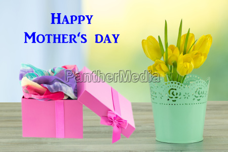 mothers day greeting card flowers and