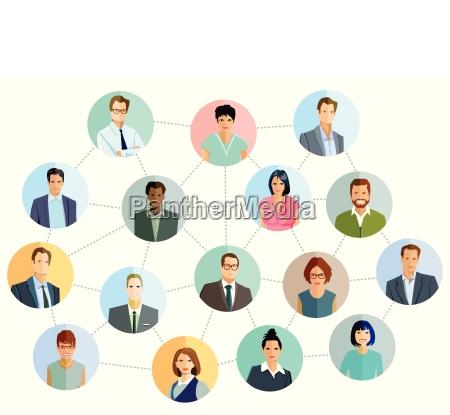 zusammenarbeit und partnerschaft internationale verbindung