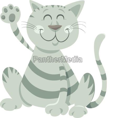 lustiger tabby katzen cartoon tiercharakter