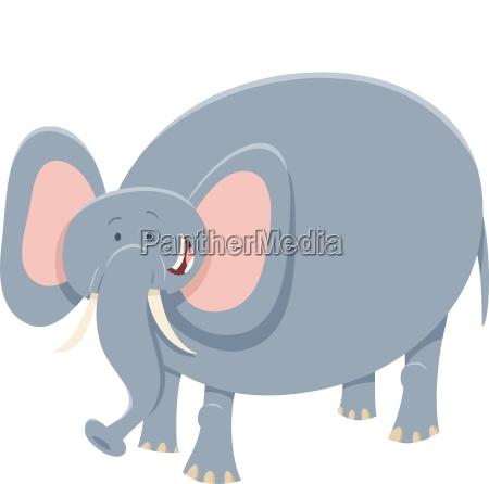 cartoon elephant safari animal character