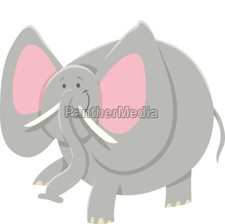 tiercharakter, des, afrikanischen, elefanten, der, karikatur - 24865608