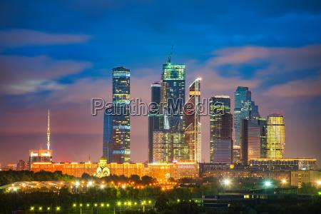 moskau stadt bei nacht