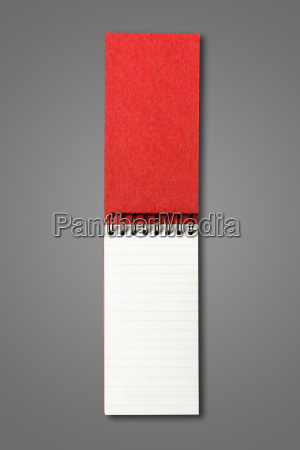 blank open spiral notebook isolated on