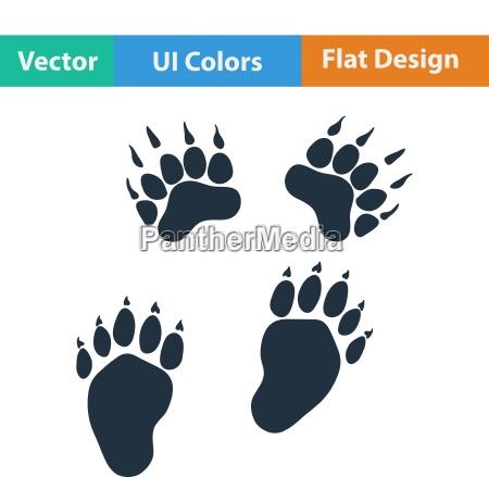 flat design icon of bear trails