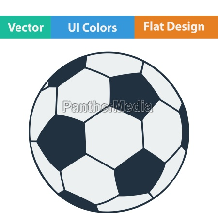 flat design icon of football ball