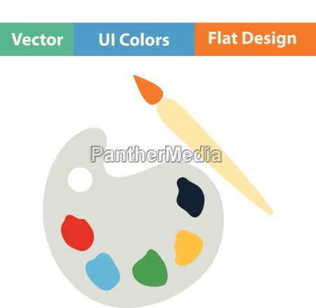 flat design icon of school palette