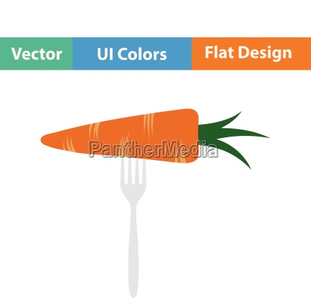 flat design icon of diet carrot