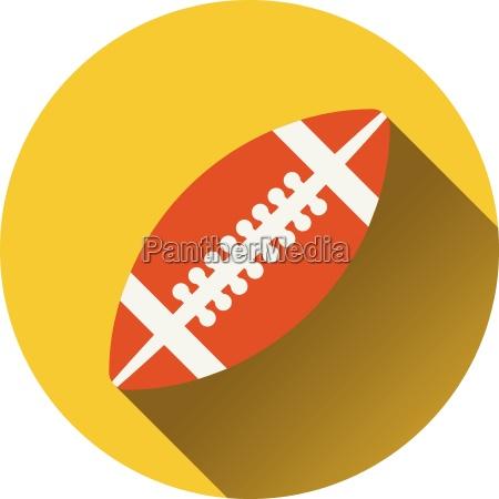 flat design icon of american football