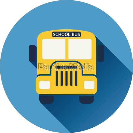 flat design icon of school bus