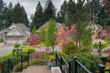 home entry frontyard landscaped garden