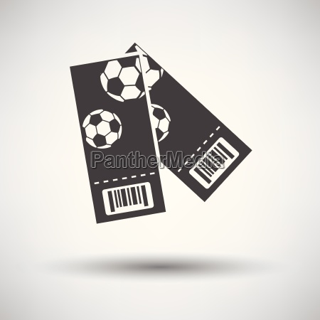 zwei fussball ticket symbol