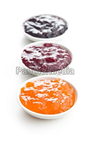 tasty fruity jam in bowl
