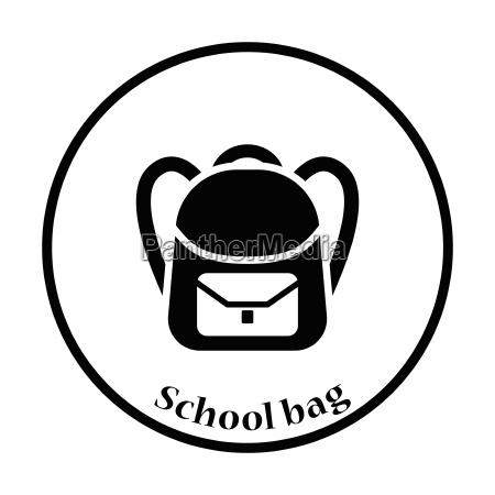 icon of school rucksack