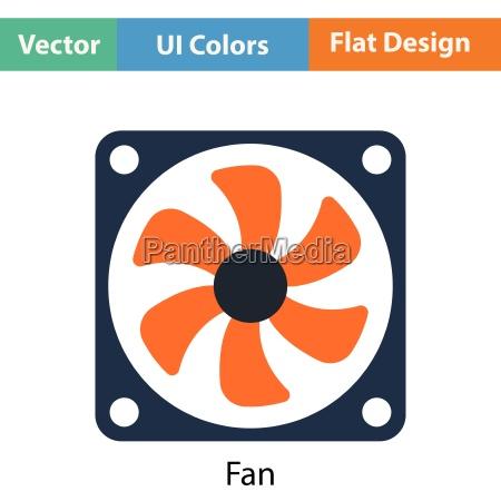 fan symbol flaches farbdesign vektor illustration