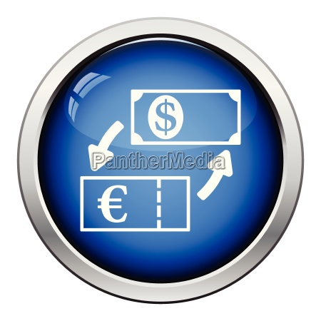 currency dollar and euro exchange icon