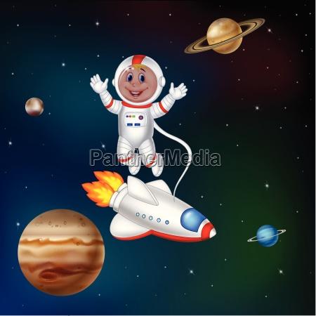 karioon astronaut im weltraum