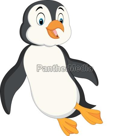 cartoon pinguin schwimmen