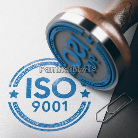 iso 9001 zertifizierung qualitaetsmanagement stempel