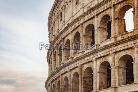 detail of the colosseum amphitheatre in