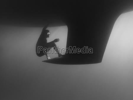 seitenansicht der mannschwimmens durch kiel unterseeisch