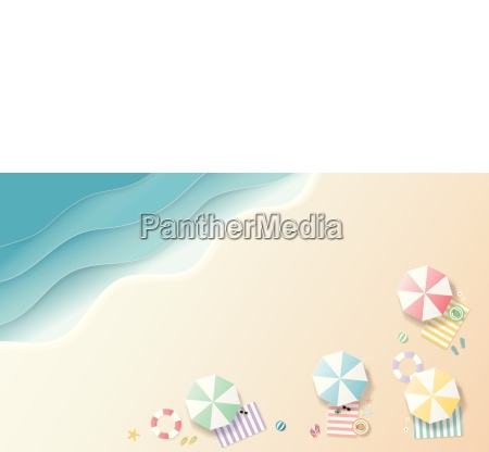 summer background paper art style top