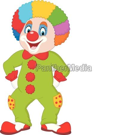 lustiger clown isoliert auf weiss