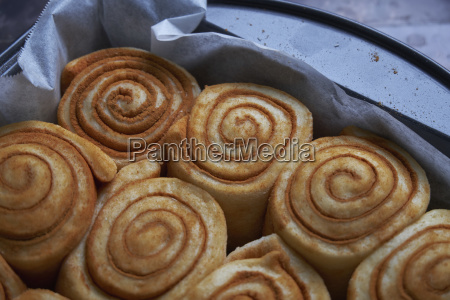 close up of rolled up cinnamon