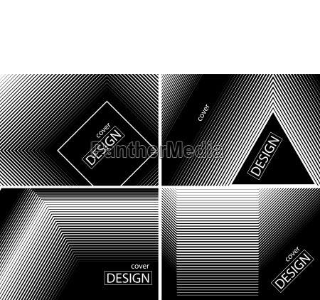 cover design collection in halftone gradients