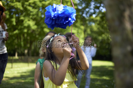 girls playing during birthday party at