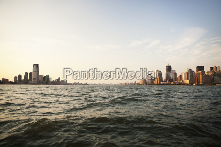 scenic view of river and cityscape
