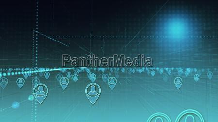 konzept von social media und globaler