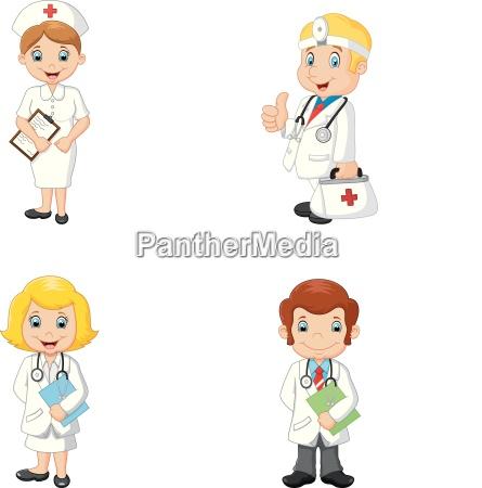 cartoon aerzte und krankenschwestern