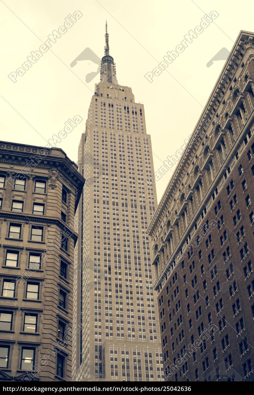 niedrige, winkelsicht, des, empire, state, building - 25042636