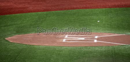 high angle view of home plate